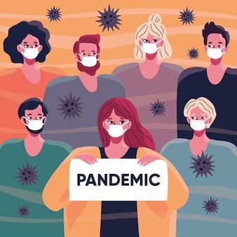 Ilustracja koncepcja pandemiczna