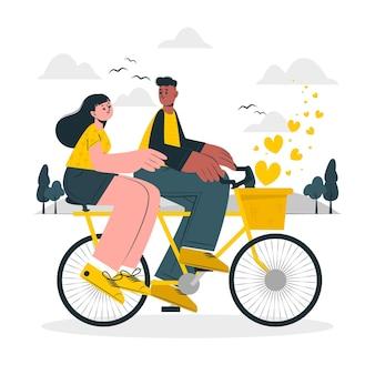 Ilustracja koncepcja para rowerów
