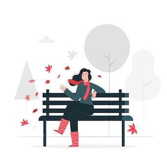 Ilustracja koncepcja park jesień