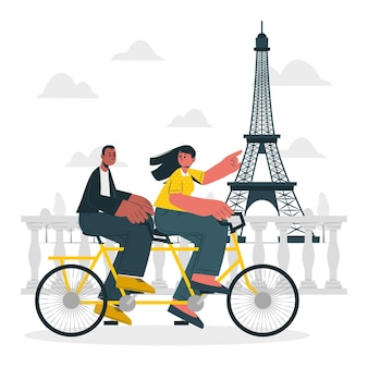 Ilustracja koncepcja paryża