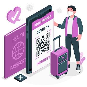 Ilustracja koncepcja paszportu zdrowia