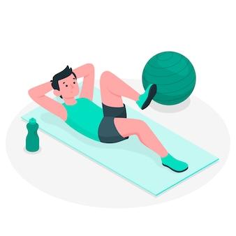 Ilustracja koncepcja pilates