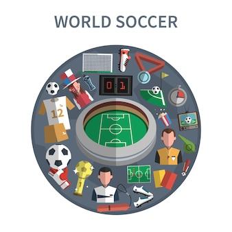 Ilustracja koncepcja piłka nożna