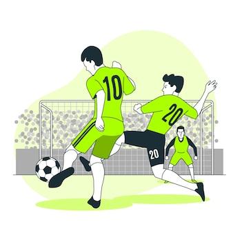 Ilustracja koncepcja piłki nożnej