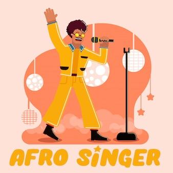 Ilustracja koncepcja piosenkarki afro