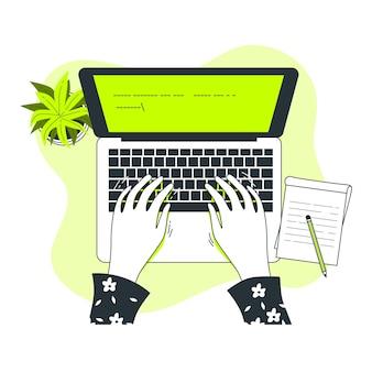 Ilustracja koncepcja pisania