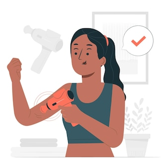 Ilustracja koncepcja pistoletu do masażu