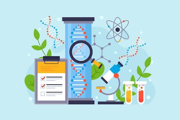 Ilustracja koncepcja płaskiej biotechnologii