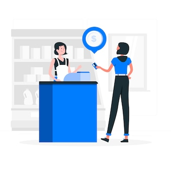 Ilustracja koncepcja płatności kartą kredytową