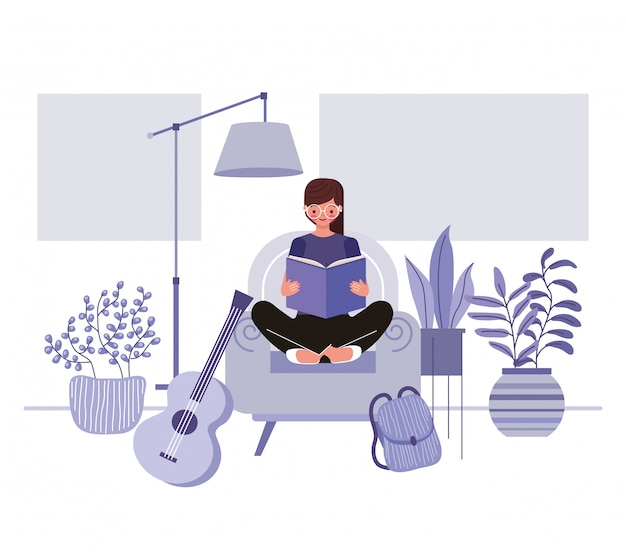Ilustracja koncepcja pobytu w domu