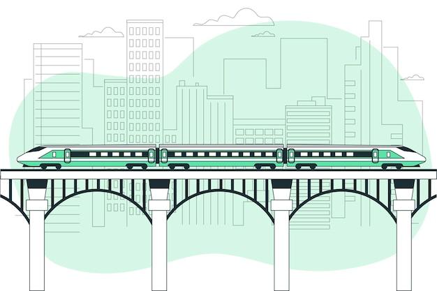 Ilustracja koncepcja pociągu