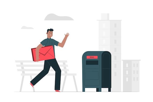 Ilustracja koncepcja poczty