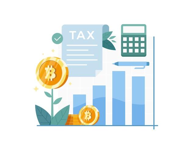 Ilustracja koncepcja podatku bitcoin