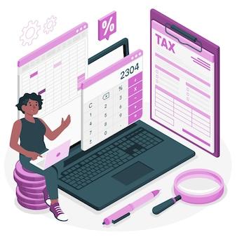 Ilustracja koncepcja podatku
