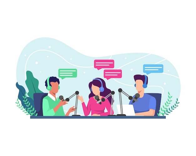 Ilustracja koncepcja podcastu