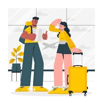 Ilustracja koncepcja podróżnych