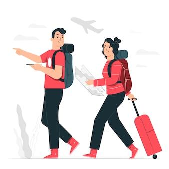 Ilustracja koncepcja podróży