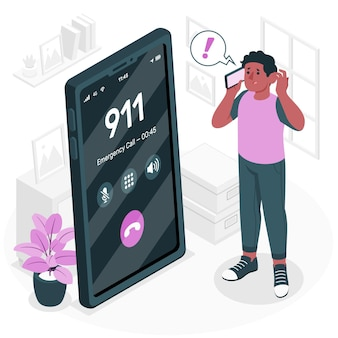 Ilustracja koncepcja połączenia alarmowego