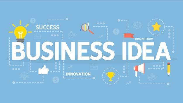 Ilustracja koncepcja pomysł na biznes. kreatywność i sukces.