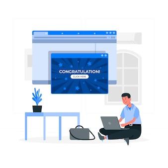 Ilustracja koncepcja pop-up