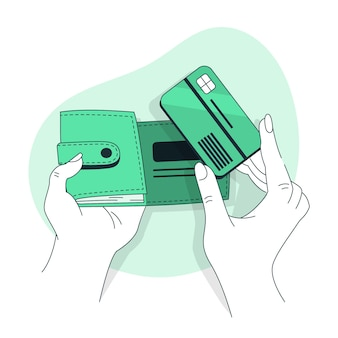Ilustracja koncepcja portfela