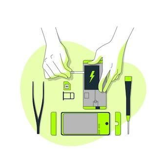 Ilustracja koncepcja porzucenia produktu