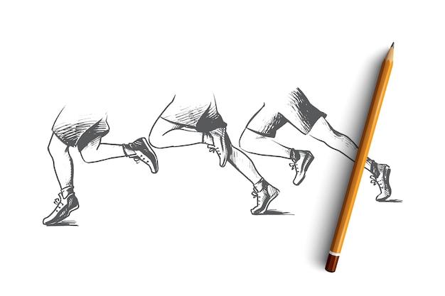 Ilustracja koncepcja pracy zespołowej