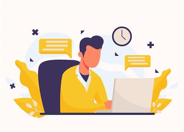 Ilustracja koncepcja pracy