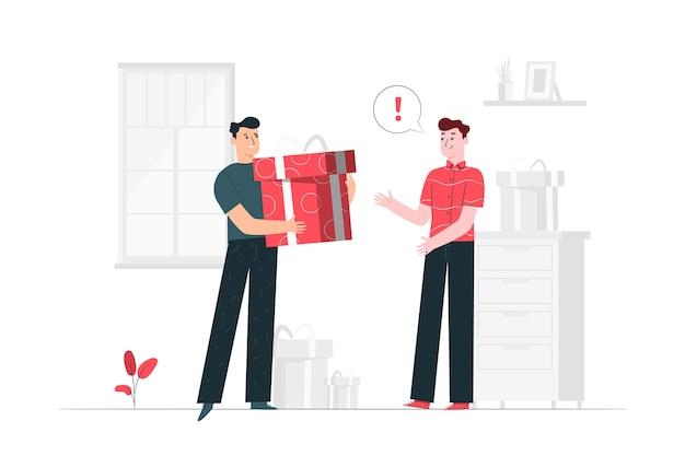 Ilustracja koncepcja prezent