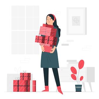 Ilustracja koncepcja prezenty