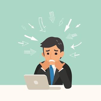Ilustracja koncepcja problem biznesowy