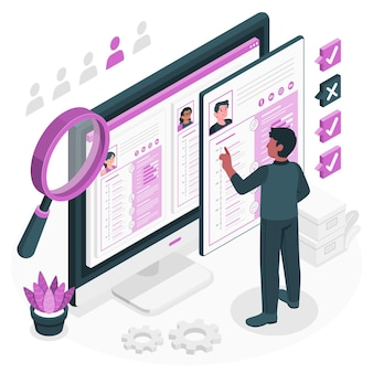 Ilustracja koncepcja profilowania