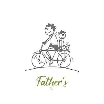 Ilustracja koncepcja projektanta czasu ojców