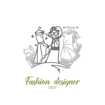 Ilustracja koncepcja projektanta mody