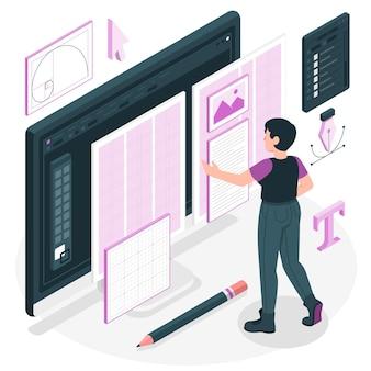Ilustracja koncepcja projektu siatki