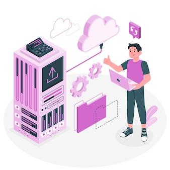 Ilustracja koncepcja przechowywania pamięci