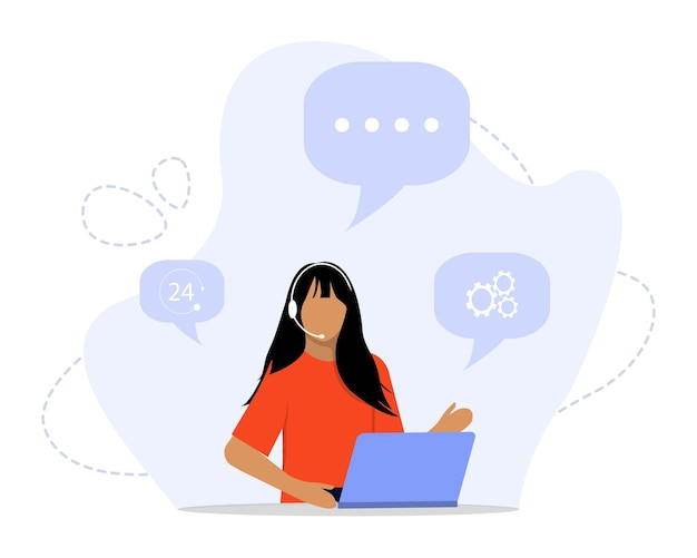 Ilustracja koncepcja przedstawicieli obsługi klienta