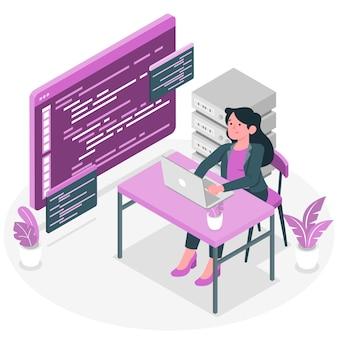 Ilustracja koncepcja przeglądu kodu