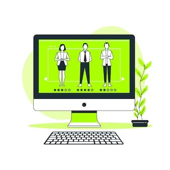 Ilustracja koncepcja przeglądu online