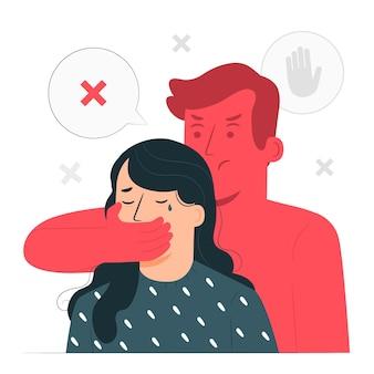 Ilustracja koncepcja przemocy płci