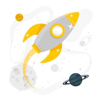 Ilustracja koncepcja przestrzeni kosmicznej