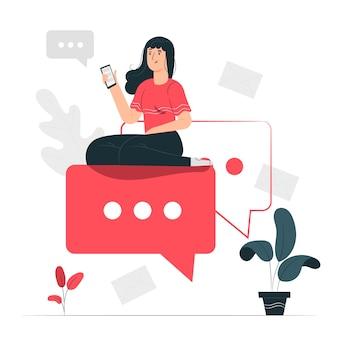 Ilustracja koncepcja przesyłania wiadomości