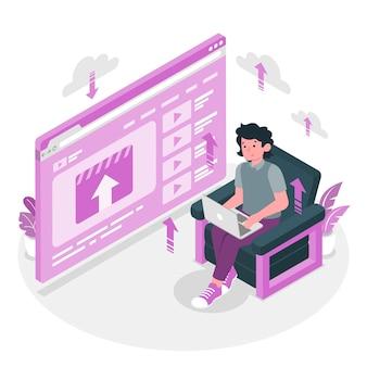 Ilustracja koncepcja przesyłania wideo