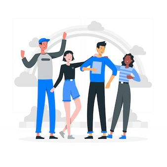 Ilustracja koncepcja przyjaźni etnicznej