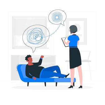 Ilustracja koncepcja psycholog