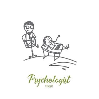 Ilustracja koncepcja psychologa