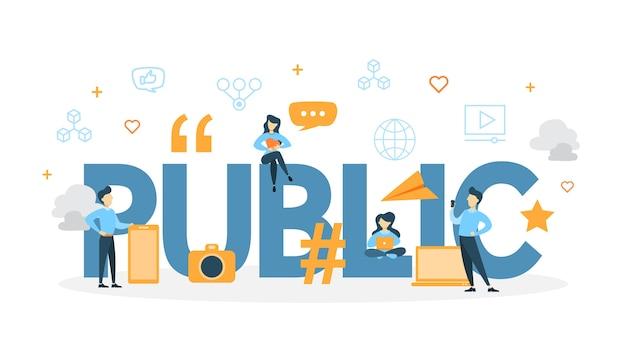 Ilustracja koncepcja publicznego.