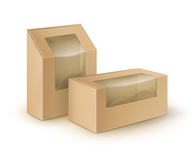 Ilustracja koncepcja pudełka na wynos
