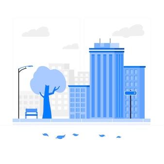 Ilustracja koncepcja pustej ulicy