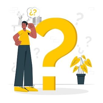 Ilustracja koncepcja pytania